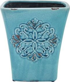 Cachepot em Cerâmica Azul James