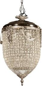 Lustre com Cristais Decorativos Aachen Grande com 4 lâmpadas