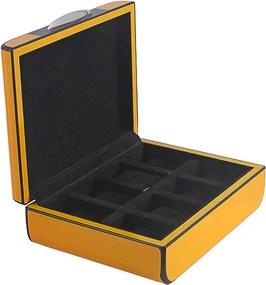 Caixa de Relógios Amarela e Preta