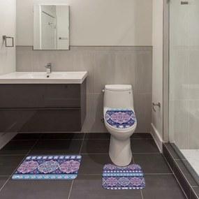 Jogo de Banheiro Mandala AzulÚnico