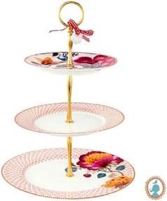 Prato p/ Doces Rosa/Branco - Floral Fantasy - Pip Studio