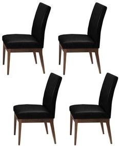 Conjunto 4 Cadeira Decorativa Luana Couríssimo Facto Preto