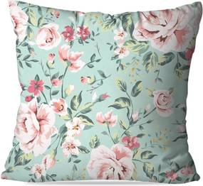 Almofada Avulsa Decorativa Floral Rose 35x35 Love Decor