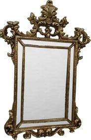 Espelho em Moldura Dourada Clássica Estilo Luis XV