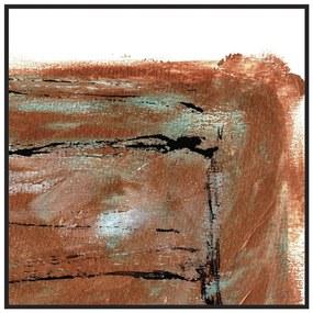 Quadro Decorativo Abstrato Nanchino Ocre - CZ 44156
