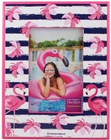 Porta Retrato  Flamingo Rosa E Branco Zona Criativa