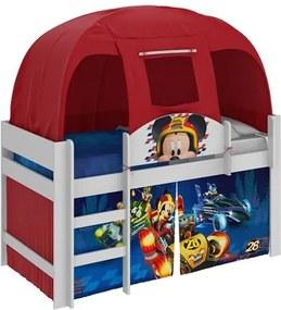 Cama Infantil Mickey Disney com Barraca Branco/Vermelho - Pura Magia
