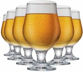 Jogo de Taças Cerveja Beer Master Vidro 380ml 6 Pcs 9680586