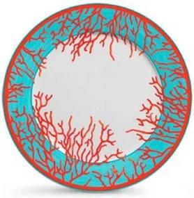 Conjunto de Prato Raso Coral - 6 peças