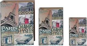 Conjunto com 3 Caixas Livo Champs Elysees
