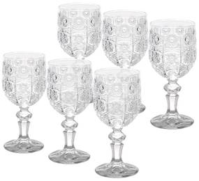 Jogo 6 Taças Vidro Sodo-Calcico Para Vinho Starry 230 Ml 25819 Bon Gourmet