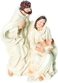 Sagrada Família de Resina Branco - 18 X 11 Cm