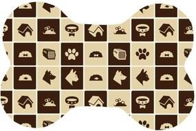 Tapete Wevans Pets Quadriculados Creme