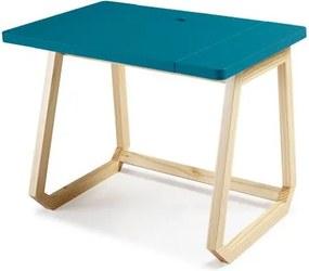 Escrivaninha Hush Azul Estrutura Freijo 94cm - 35902 Sun House