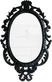 Espelho Oval Giant Princess Preto - Urban - 73x44 cm