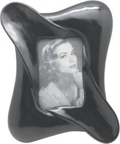 Porta Retrato Decorando com Classe Alto Relevo Preto 10X15cm Única