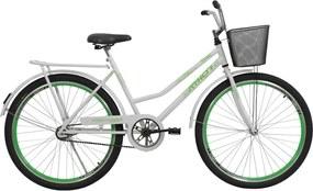 Bicicleta Aro 26 com Aero Venus Verde com cestão Athor Bikes