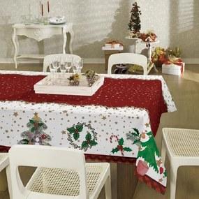 Toalha de Mesa Retangular 6 Lugares Natal 36468 Lepper