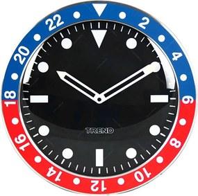 Relógio de Parede Wrist Design Azul e Vermelho em Alumínio - Urban
