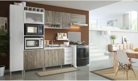 Cozinha Completa Prats C/ 10 Portas Teka Sensitive/Madeira Demolição