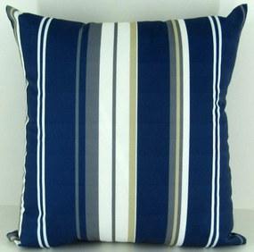 Capa almofada LYON Veludo estampado Listra Azul 50x50cm