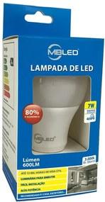 Lâmpada de Led Bulbo 7W 3000K - MBLED - Bivolt