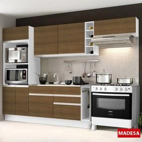 Cozinha Compacta 7 Portas Safira G20180076est Branco/Rustic - Madesa