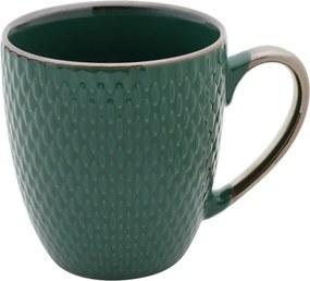 Caneca De Porcelana Drops Verde 400ml 27621 Bon Gourmet