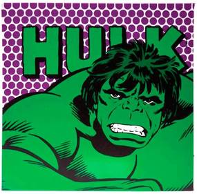Quadro Tela Com Led Marvel Hulk