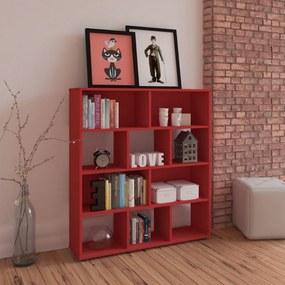 Estante Para Livros Book Vermelho  Artely
