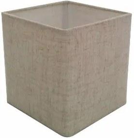 Cúpula em Tecido Quadrada Abajur Luminária Cp-4224 16/16x16cm Rustico