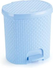 Lixeira 6 Litros Rattan Azul Bebe