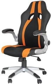 Cadeira Office Speed Preta e Laranja - 27711 Sun House
