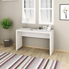 Mesa 127x46cm Escrivaninha Escritório Home Office Branca