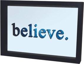Quadro Adesivo Prolab Gift Eletrostático Believe Preto