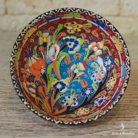 Tigela Floral em Cerâmica Turca