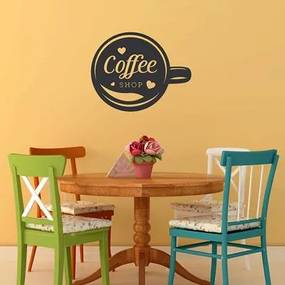 Adesivo Decorativo - Coffee Shop 0,59X0,74 Metros (Loja De Café)