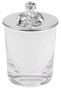 Vela Aromática Prata C/ Aplique - Flor  Flor