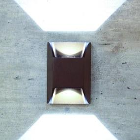 Arandela Aluminio Led 6w 3000k Facho Duplo