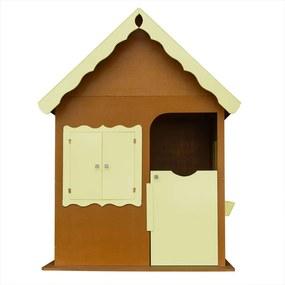 Casinha de Brinquedo Infantil Verniz/Amarelo - Criança Feliz