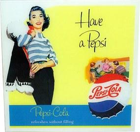 Quadro com Tampo de Vidro Have a Pepsi