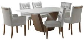 Conjunto De Jantar Essence Com 6 Cadeiras - Wood Prime UR 26395