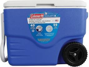 Caixa Térmica 40 QT Com Rodas Azul 38 Litros - Coleman