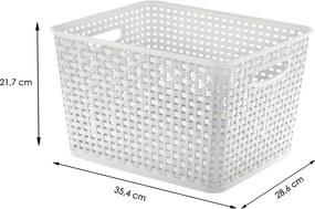 Caixa Cesto Organizador com tampa 17L - Branco G