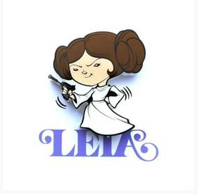 Mini Luminária 3D Light FX Star Wars Leia Geek10 - Multicolorido