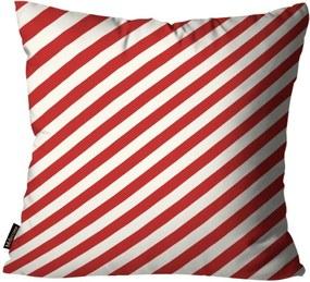 Capa para Almofada Mdecore Natal Listrada Vermelha 45x45cm