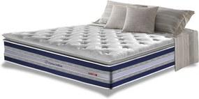 Colchão Queen De Molas Ensacadas D33 Com Pillow Top Cama Inbox Select 158x198x32 Azul
