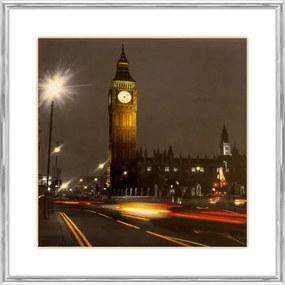 Quadro Decorativo Moldura em Alumínio Londres Torre Big Ben 40x40cm