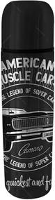 Garrafa Térmica GM American Muscle Car Preto 500 ml em Inox - Urban