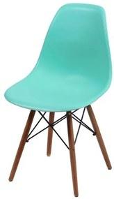 Cadeira Eames Polipropileno Verde Tifanny Base Escura - 44835 Sun House